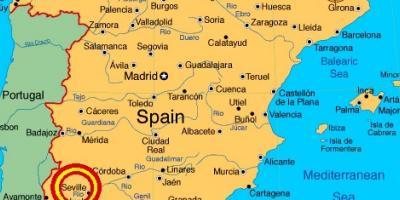 Sevillan Kartta Kartat Sevilla Andalusia Espanja